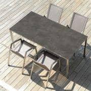 PURO spisebord eller salongbord, keramiske versjon av TODUS, godt utvalg av dimensjoner, robuste, rene linjer: perfekt for bruk på terrassen eller i stua