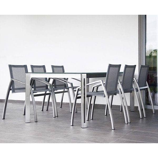 ARIA dining tables or coffee table, HPL version, by TODUS, great choice of dimensions, robust, clean lines: perfect for use on the terrace or in your living room