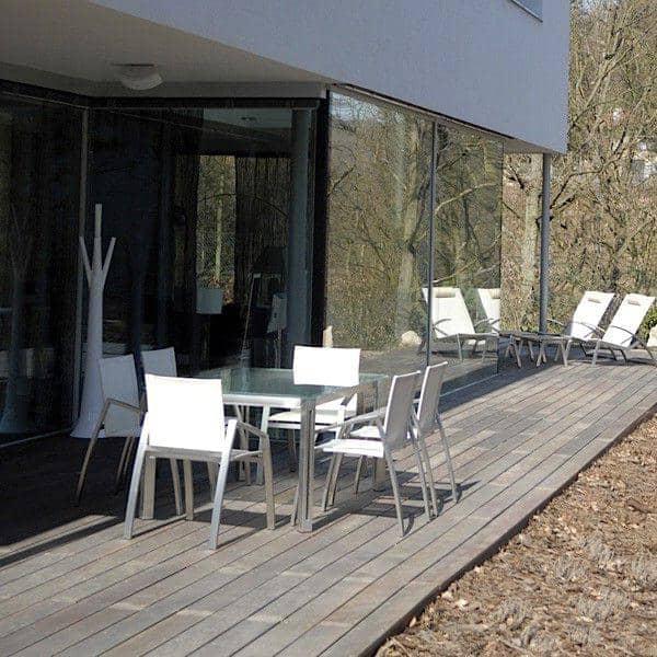 Aria mesas de comedor o mesa de café, la versión clear glass, por ...