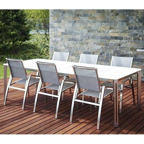 ARIA spisebord eller salongbord, Keramisk versjon av TODUS, godt utvalg av dimensjoner, robuste, rene linjer: perfekt for bruk på terrassen eller i stua