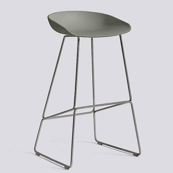 Tabouret de bar about a stool aas38 acier et - Tabouret hay about a stool ...