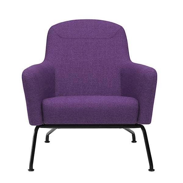在HAVANA扶手椅,脚在钢铁,传奇色彩和动态舒适。非常广泛的面料和颜色。通过SOFTLINE。