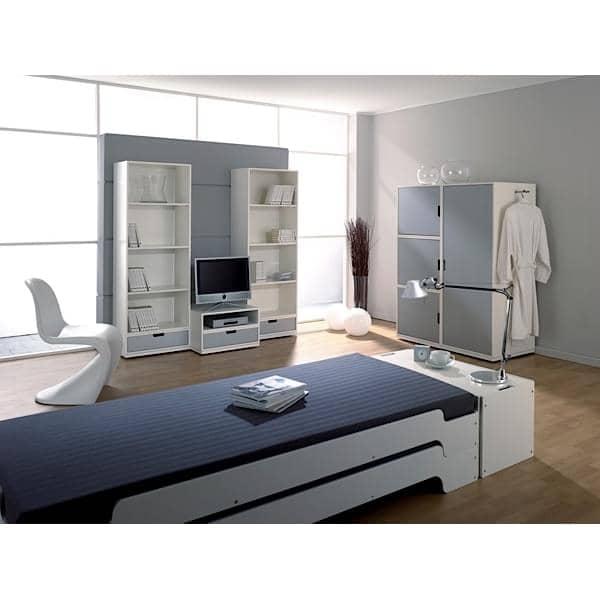 lit stack en bois empilable grand confort ligne pure et moderne. Black Bedroom Furniture Sets. Home Design Ideas
