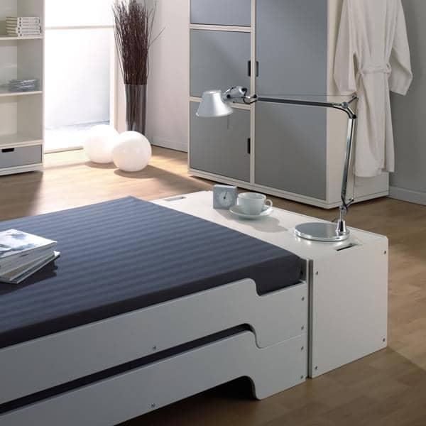 STACK box di stoccaggio in legno lamellare massiccio, proposto in diverse finiture