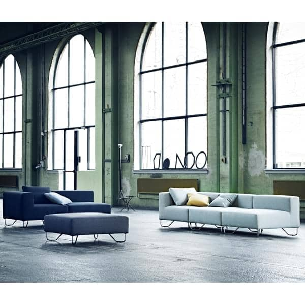 LOTUS sofa : combine the base module, the angle and the poufs to create your own relax sofa, with excellent seating comfort