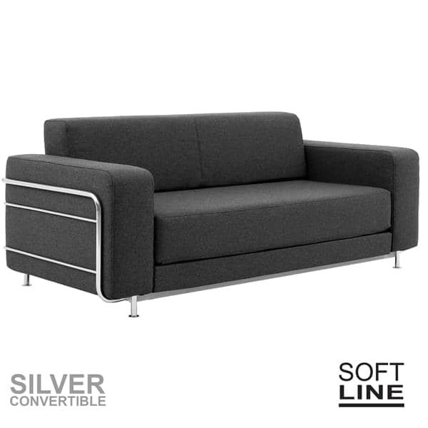 Silver A Convertible Sofa Bed For 2