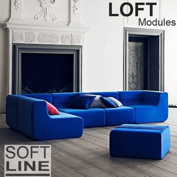 LOFT, a modular sofa for your living room or terrace: Move the core modules, the angle or the ottoman, and create dozens of combinations.