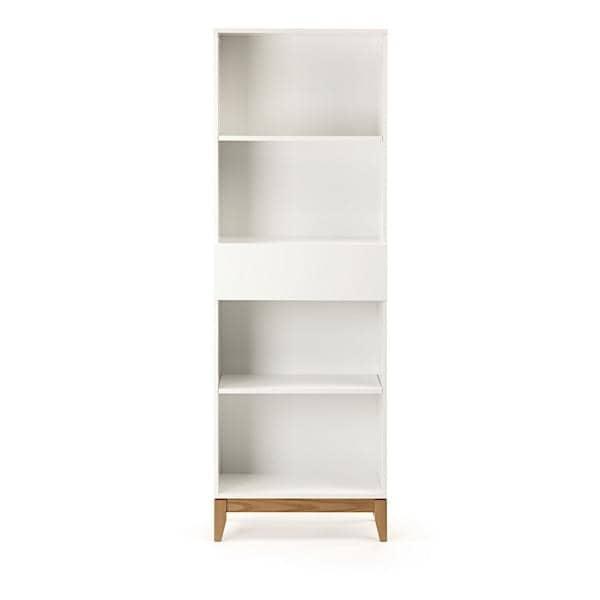 Blanco estanter a estructura de madera maciza de roble - Biblioteca madera blanca ...