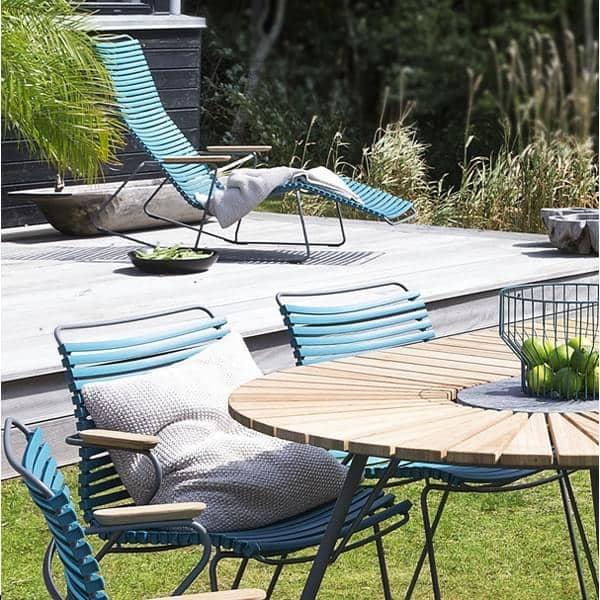 Jantar cadeira, CLICK SYSTEM, resina e aço, ao ar livre, por HOUE