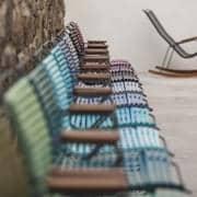 Servering stol, CLICK SYSTEM, harpiks og stål, utendørs, ved HOUE