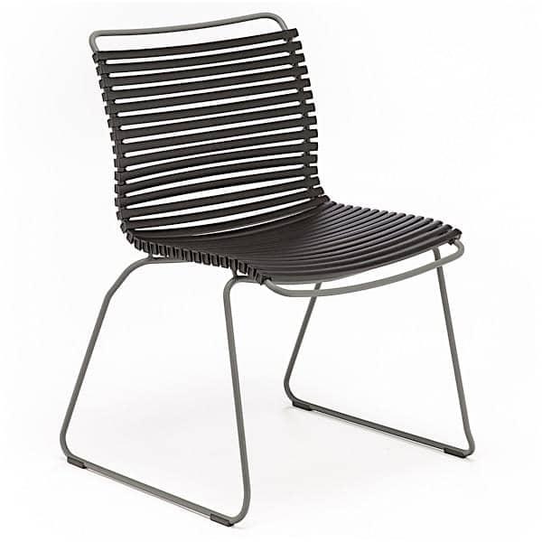 Servering stol, CLICK SYSTEM, uten armlener, harpiks og stål, utendørs, ved HOUE