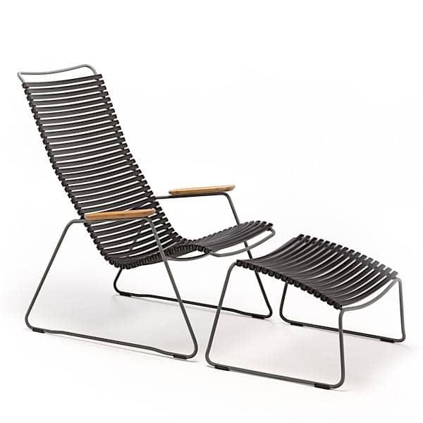 Lounge stol, CLICK SYSTEM, harpiks og stål, udendørs, ved HOUE