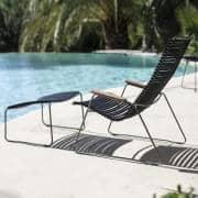 Lounge stol, CLICK SYSTEM, harpiks og stål, utendørs, ved HOUE
