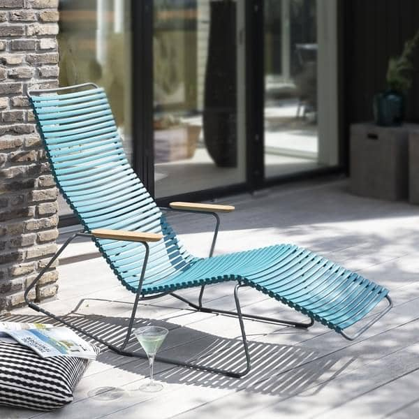Mecedora silla de salón, CLICK SYSTEM, resina y acero, al aire libre, por HOUE
