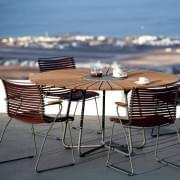 Table ronde CIRCLE, bambou et granit, acier, outdoor