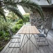 SKETCH, garden table, bamboo and epoxy steel