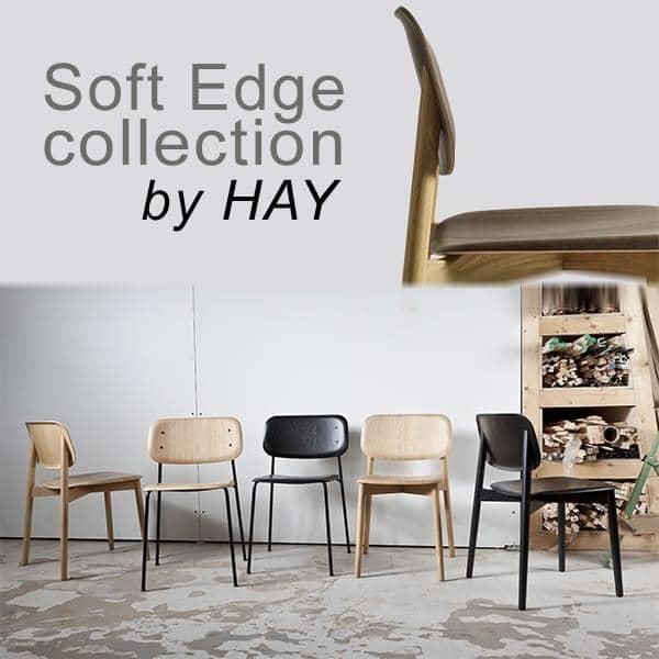 SOFT EDGE stabelstol i træ eller metal tømmer, HAY