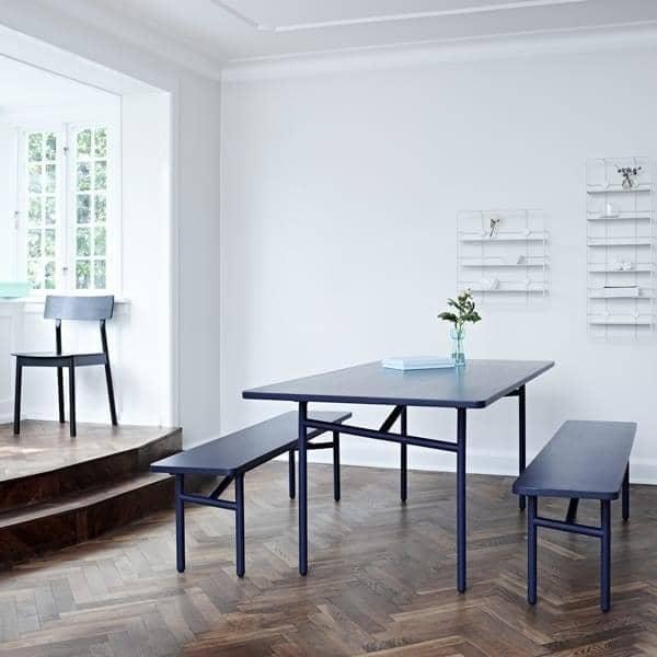 DIAGONALE ، وطاولة الطعام الخشبية والمعدنية، تصميم عصري جدا والخالدة. WOUD