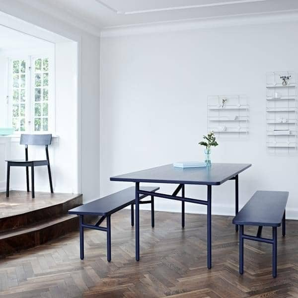 DIAGONALE, שולחן אוכל מעץ ומתכת, עיצוב עכשווי נצחי מאוד. WOUD