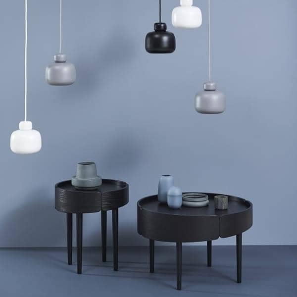 SKIRT salongbord i tre: finsk design, en vakker bruk av materialet. WOUD