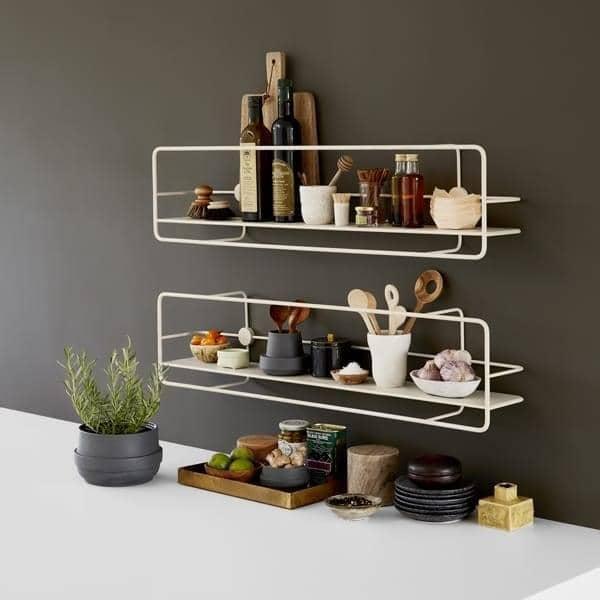 etag res coup en acier noir ou blanc pour la cuisine salle de bain chambres bureau woud. Black Bedroom Furniture Sets. Home Design Ideas