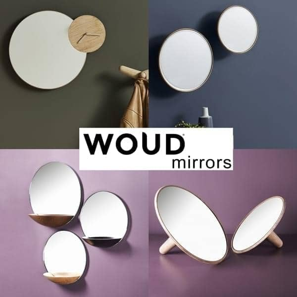Spejle designet i Danmark: TIMEWATCH. Spejl, lomme spejl, Barb og makeup spejle WOUD