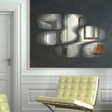 Miroir d coratif bulles snap mirror un miroir aux contours frang s 104 x - Miroir decoratif design ...