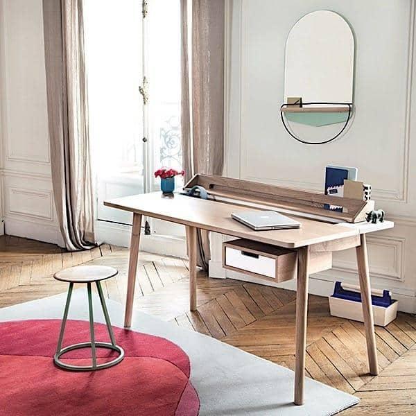 Honoré skrivebord av Hartô, eikfiner og solid eik