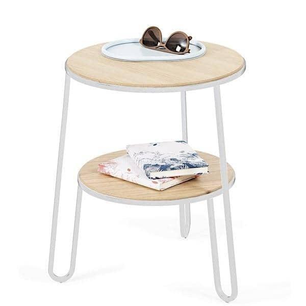 Anatole bordbord av Hartô, eikfiner og stålrør