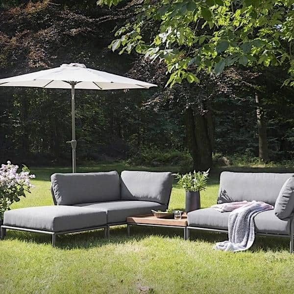 Garden furniture LEVEL to compose, high quality, sofa, ottoman and coffee table