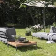 Havemøbler LEVEL at komponere, høj kvalitet, sofa, ottoman og sofabord