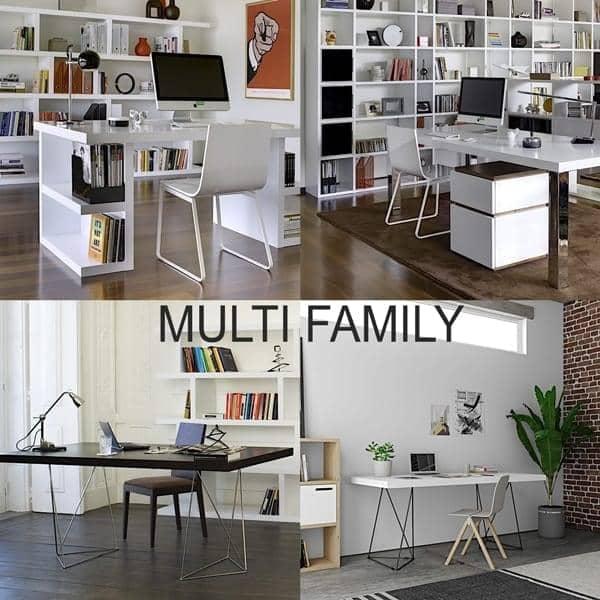 MULTI 160 eller MULTI 180 skrivebord, raffinert og funksjonelt. TEMAHOME