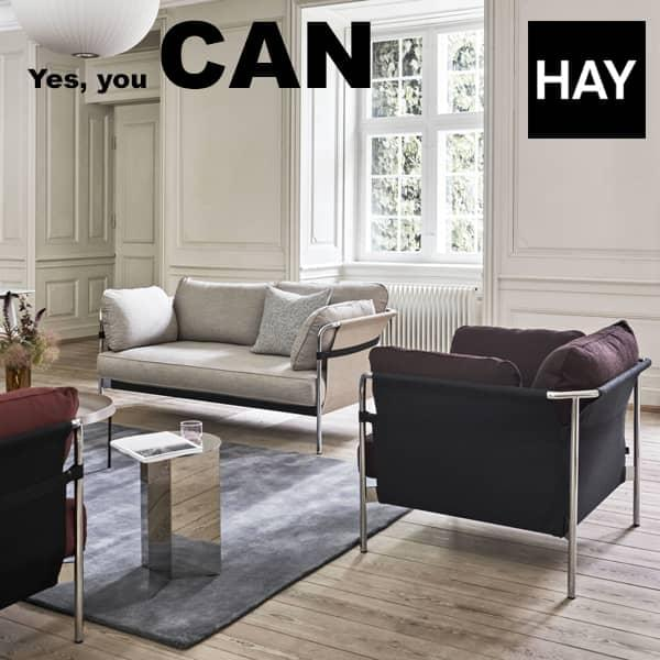 The CAN sofa by the Bouroullec brothers: 2 or 3 seater sofa and armchair - functional and comfortable