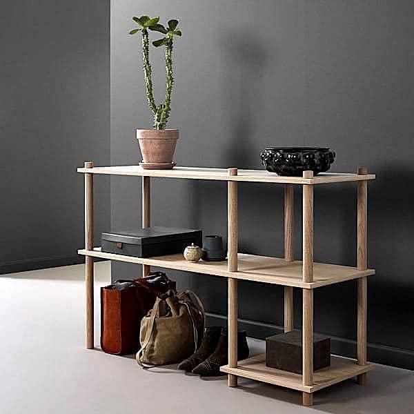 Scaffale modulare in legno ELEVATE, design ed elegante. WOUD