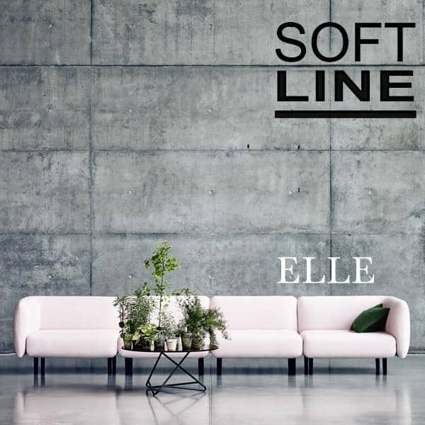 ELLE, a sofa full of roundness and femininity