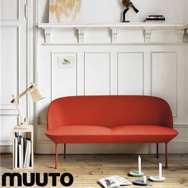 أريكة OSLO ذات المقعدين ، صورة ظلية أنيقة ورائعة. MUUTO