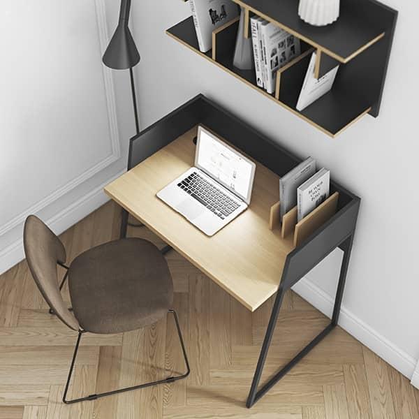 La scrivania VOLGA : compatta e progettata per essere pratica e universale.