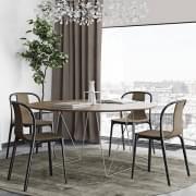 Tavoli da pranzo rotondi ROW, eleganti e moderni. TEMAHOME