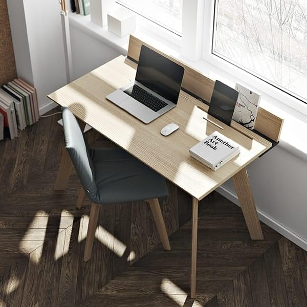 Loft Wooden Desk Simple And Functional Temahome
