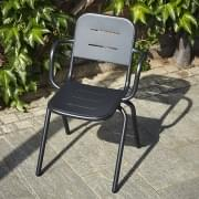 RAY moderner Outdoor-Sessel CAF É von FASTING & ROLFF, WOUD