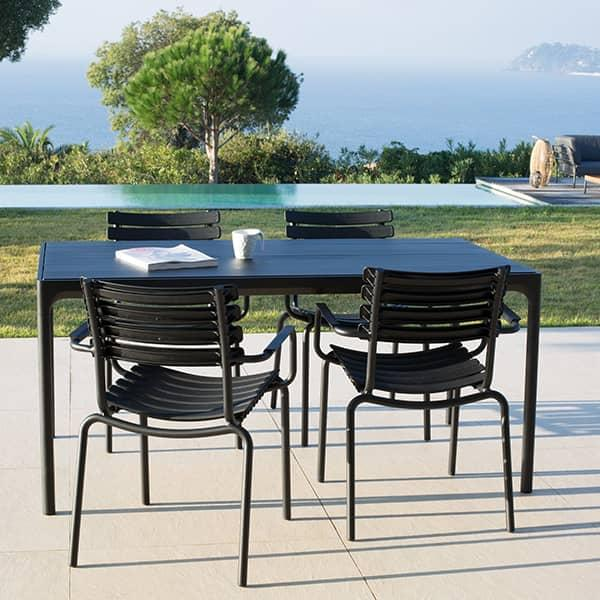 CLIPS Outdoor chair with armrests, by HOUE