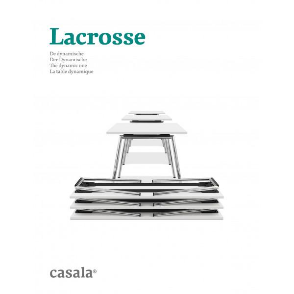 LACROSSE、木製とアルミ製テーブル、軽くて積み重ね可能