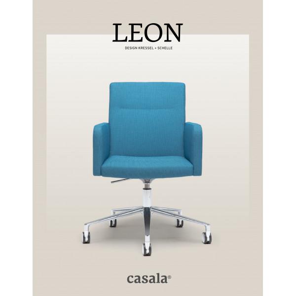 LEON、快適で積み重ね可能なデザインのアームチェア