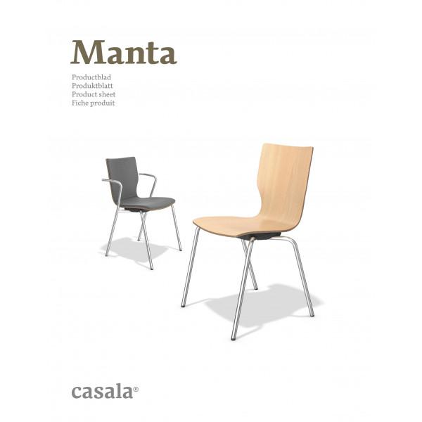 MANTA、積み重ね式および快適な木製チェア