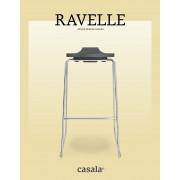 RAVELLE, design og stabelbar høy avføring