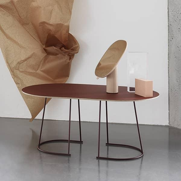 Tavolini da caffè ampi ed eleganti AIRY, di MUUTO