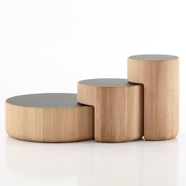 Levels Modular Solid Wood Coffee Table Set Per Use Levels Coffee Tables Lower Element Only O 75 Cm Oak Natural Oiled Black Glass