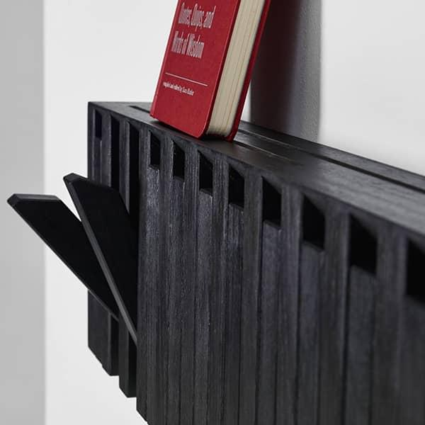 Functional wooden coat rack PIANO or XYLO, PER/USE