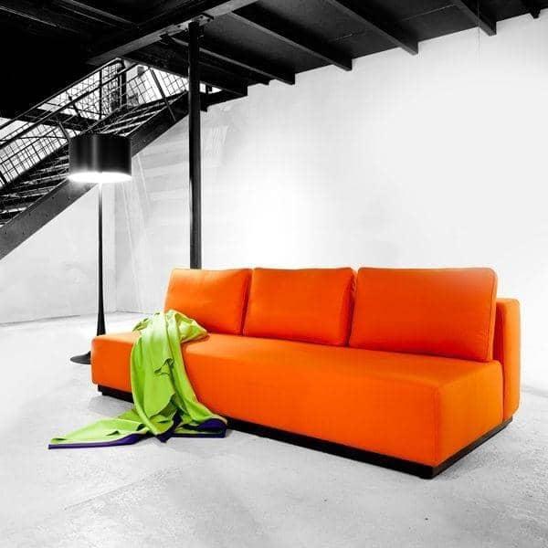 NEVADA, FELT stoffer: Convertible Sofa, 2 eller 3 sett, sjeselong og pouf: flotte kombinasjoner - deco og nordisk design, SOFTLINE