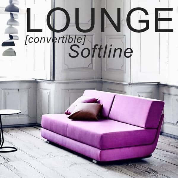 LOUNGE沙发:可转换沙发,3人座,贵妃椅:美丽的组合。 SOFTLINE